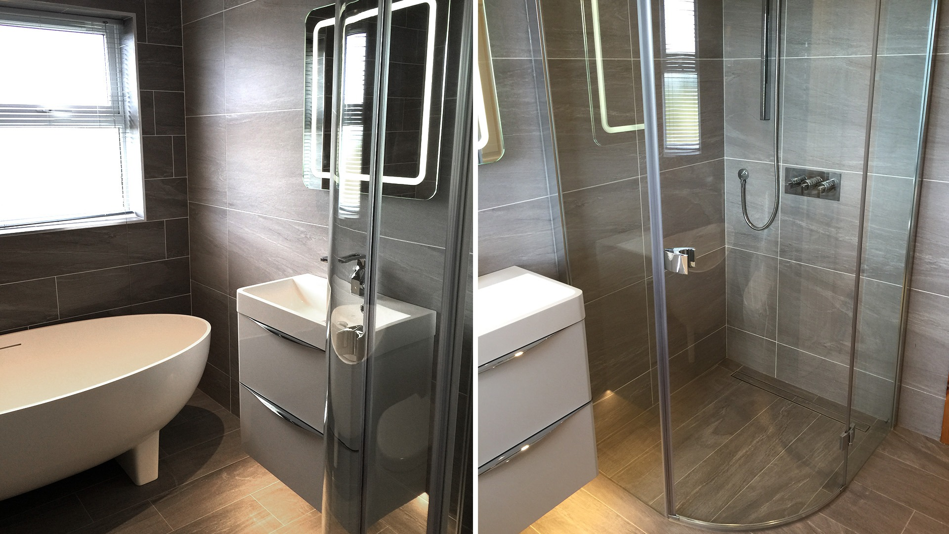bathroom renovation by mdc tiles and bathrooms in Northern Ireland