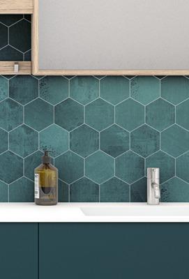 Hexagon wall tiles