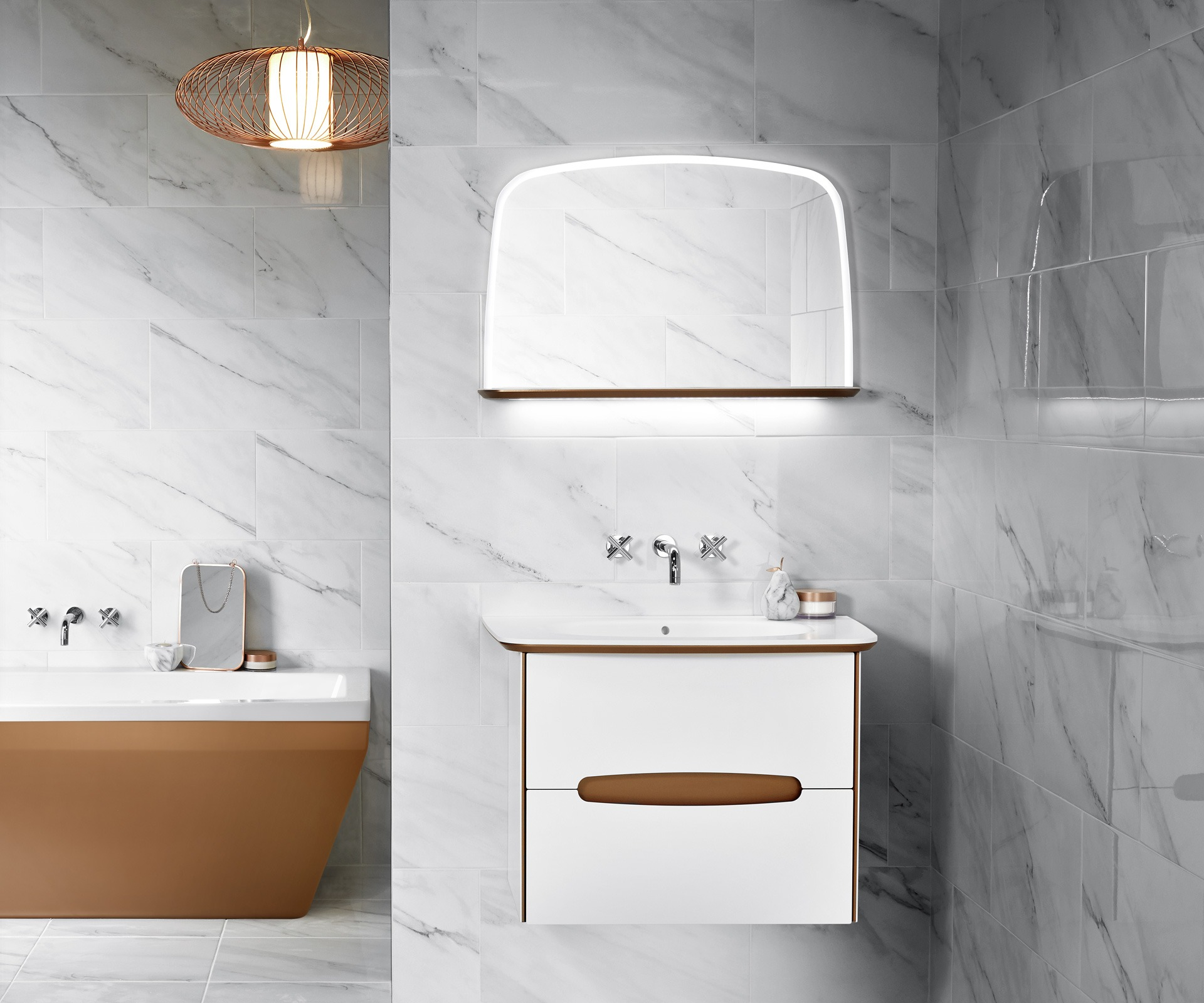 Brass bathroom furniture