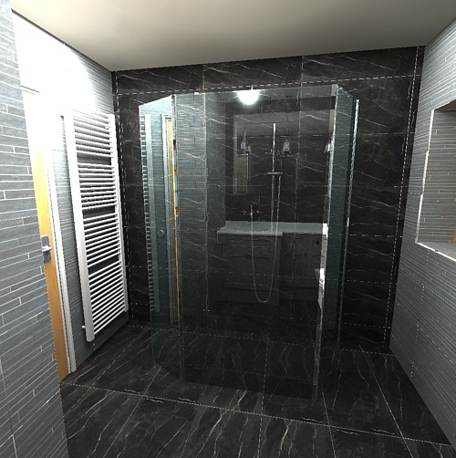 Wetroom Walk through shower