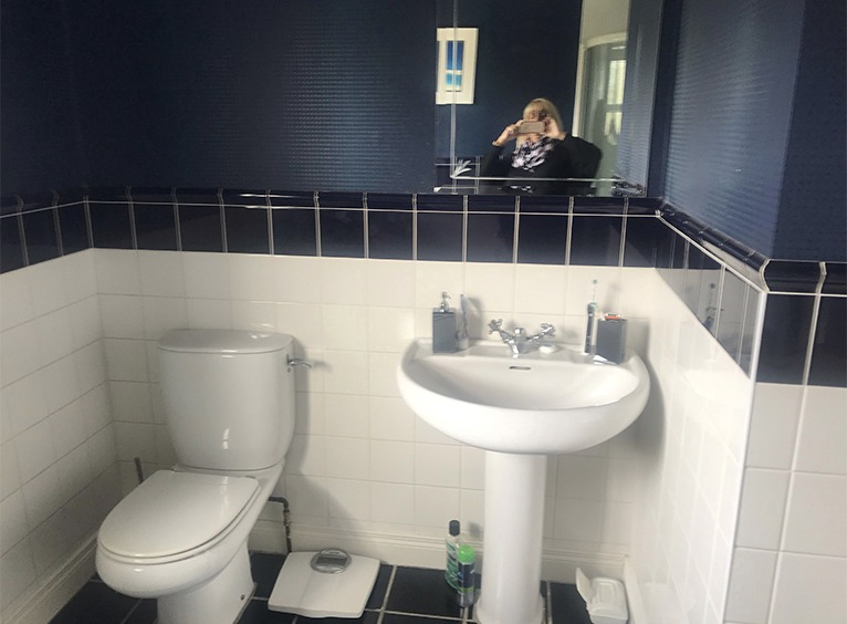 Bathroom refurbishment - sink and toliet before