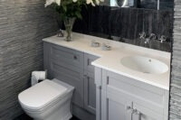 Bathroom tiles and cabinets