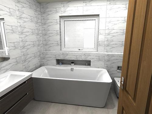 Bath Tub - 3D bathroom renovation
