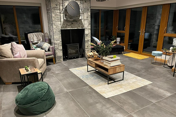 Living room tiles Tobermore