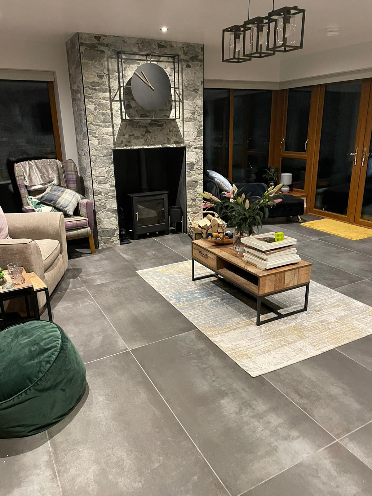 Living room tiles Tobermore
